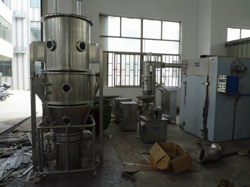 常州市宝康干燥机械有限公司生产的一步制粒干燥机产品在广州药业公司已经正式投入使用运行生产