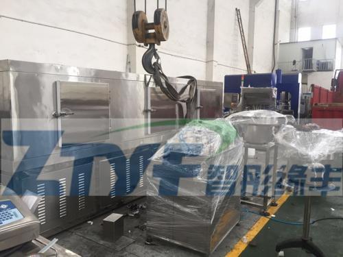 无锡智彤缘丰灌装冷冻生产线发往上海维尔雅