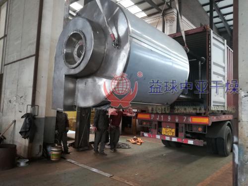 [发货现场]国外客户订购的喷雾干燥机装车发货