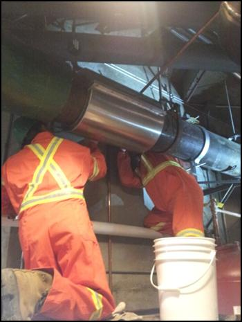 循环水冷冻水管道带水带压冷冻封堵施工案例