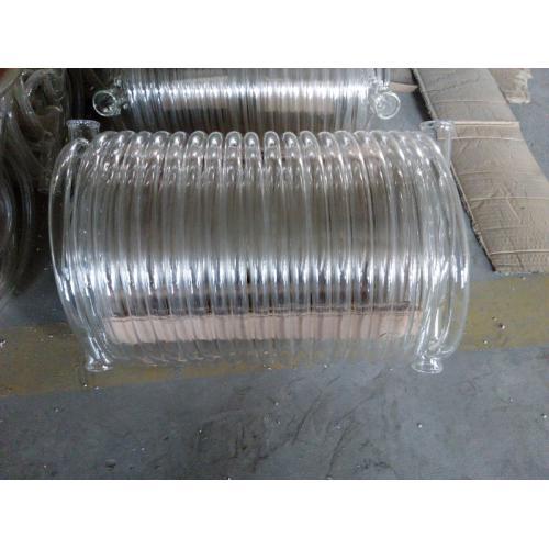 玻璃化工管道、玻璃塔节、玻璃三通、玻璃弯头、玻璃冷凝器