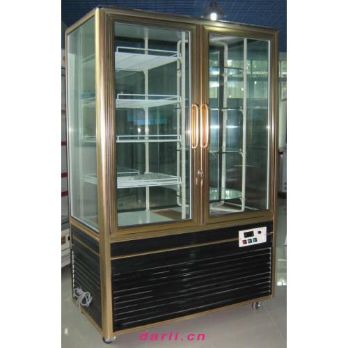 旋转货架玻璃保鲜柜