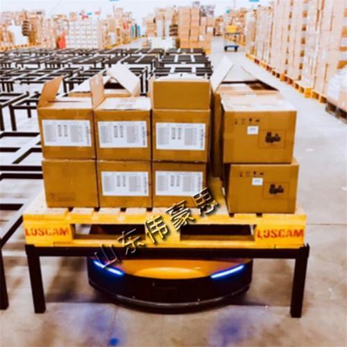 工业AGV机器人哪家好  二维码导航仓储AGV小车