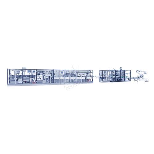鋁塑裝盒裝箱碼垛聯動生產線